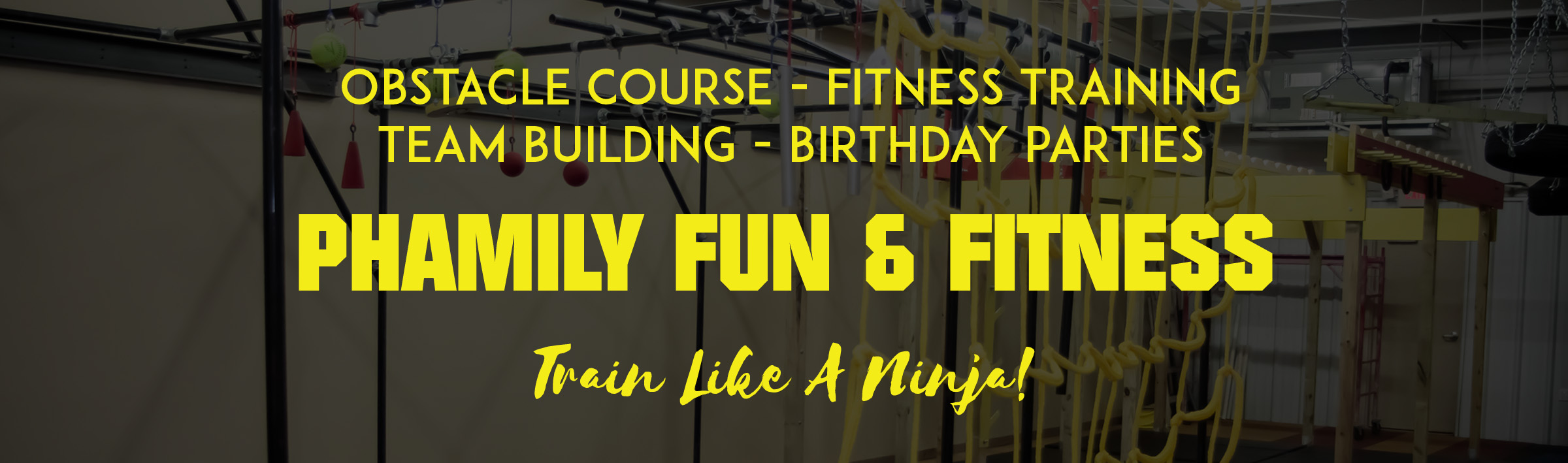 Indoor family obstacle course gym in Edmond Oklahoma Phamily Fun
